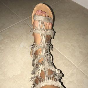 Shoes - Gorgeous suede Fringe sandals!!💌